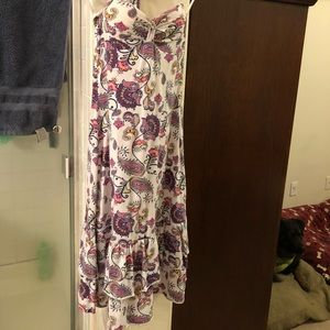 Paisley Grane dress Purple and White Summer Dress